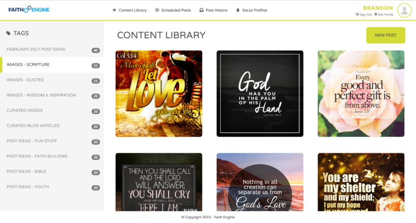 FaithEngine Content Library